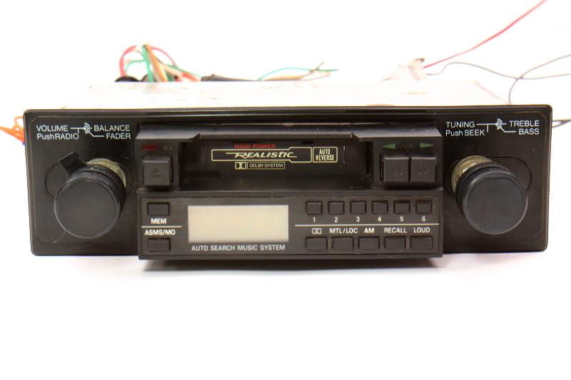 Realistic Old School Vintage Car Radio Head Unit VW Rabbit Mk1 BMW 70's 80's