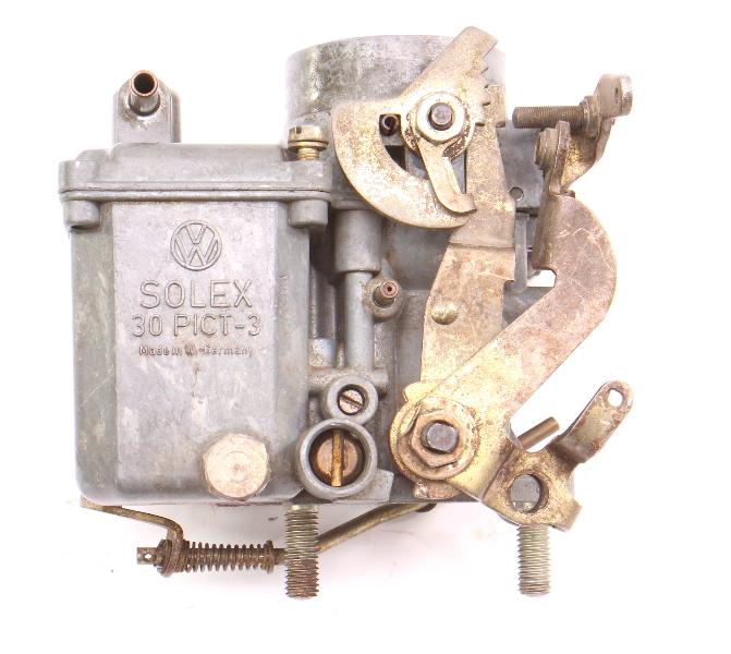 Solex Carburetor Carb 30 PICT-3 1970 VW Beetle Bus 1600 Single Port Aircooled