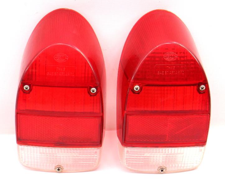 Tail Light Lamp Lens Set 71-72 VW Beetle Bug Aircooled Genuine Hella