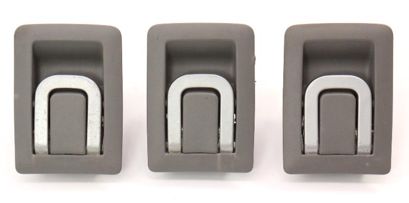 Rear Child Seat Safety Latch Hooks 05-10 VW Jetta MK5 Grey - Genuine 1K5 887 267