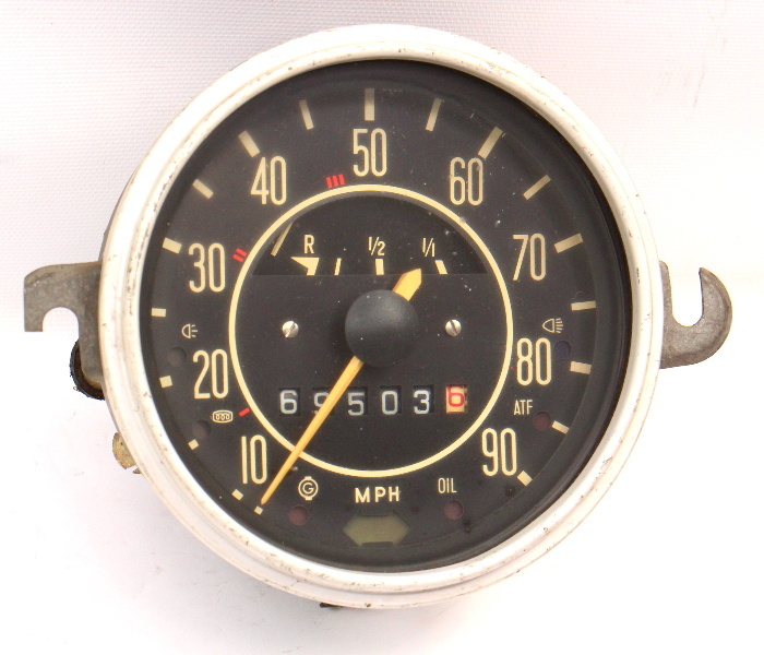 71-72 VW Beetle Bug Speedometer Gauge Cluster Vintage Aircooled : 113 957 023 E