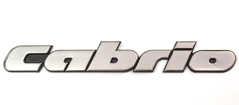 Rear Emblem Badge Logo 95-02 VW Cabrio III MK3 - Genuine - 1E0 853 687 D