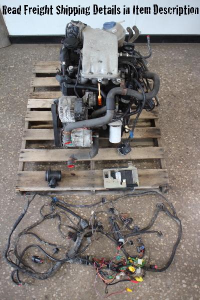 OBD2 2.0 ABA Engine Motor Swap VW Jetta Golf GTI Cabrio MK1 MK2 MK3 ECU \ Wiring