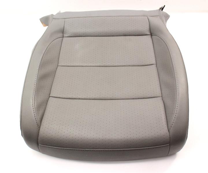 RH Front Seat Cushion & Cover 05-10 VW Jetta Mk5 - Art Grey Pleather Genuine