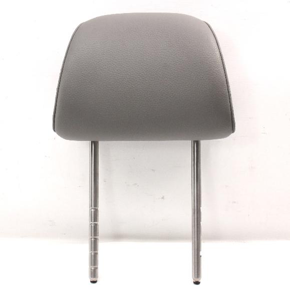 Front Seat Headrest 05-10 VW Jetta Rabbit MK5 Art Grey Leatherette - Genuine
