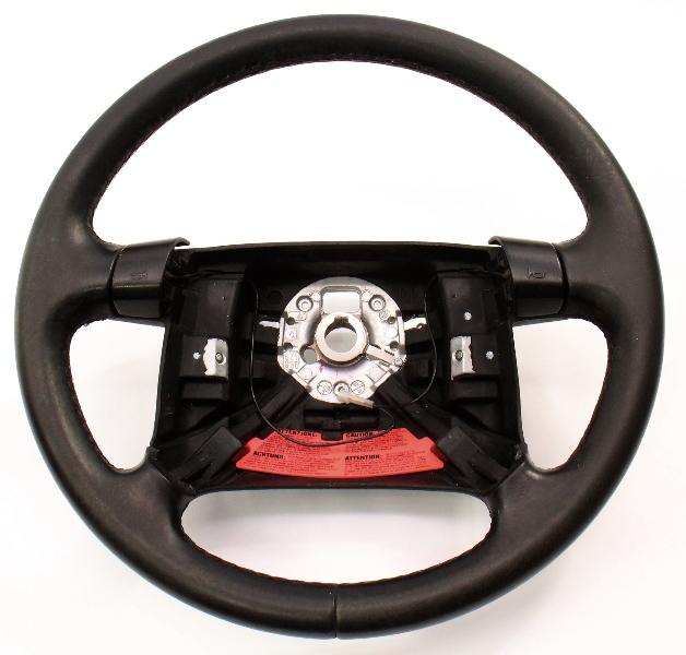 Leather Steering Wheel 94-96 VW Jetta Golf GTI MK3 Passat 4 Spoke 1HM 419 091 K