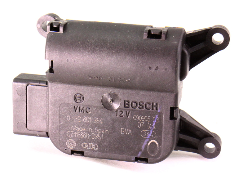 Heater Climate Control Flap Actuator 06-10 VW Passat B6 Genuine - 0 132 801 364
