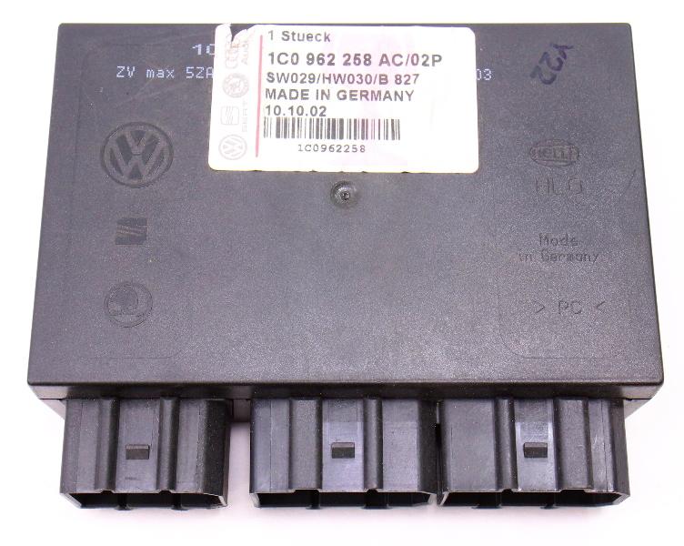 CCM BCM Comfort Body Control Module 2002 VW Jetta Wagon Mk4 - 1C0 962 258 AC