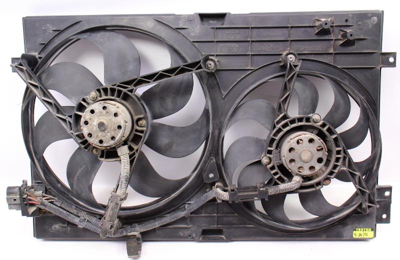Engine Cooling Fans & Shroud 99-05 VW Jetta Golf GTI MK4 - 1J0 121 207 M