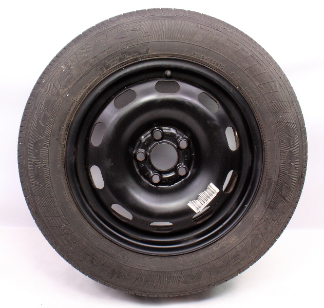 "Full Size Spare 15"" 5x100 Steel Wheel Rim Tire 99-05 VW Jetta Golf MK4 . Genuine"