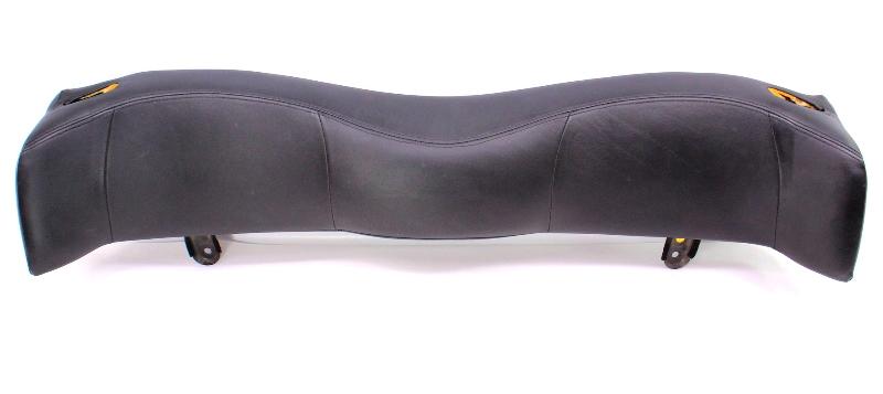 Black Leather Rear Seat Head Rest Headrest 95-02 VW Cabrio - 1E0 885 915