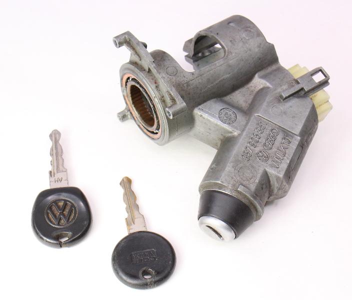 Ignition Housing Collar & Key Set 93-99 VW Jetta MK3 - Genuine - 357 905 851