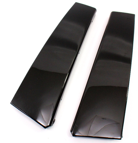 Exterior Gloss B Pillar Trim Set 95-02 VW Cabrio Genuine - 1E0 853 351 B / 352 B