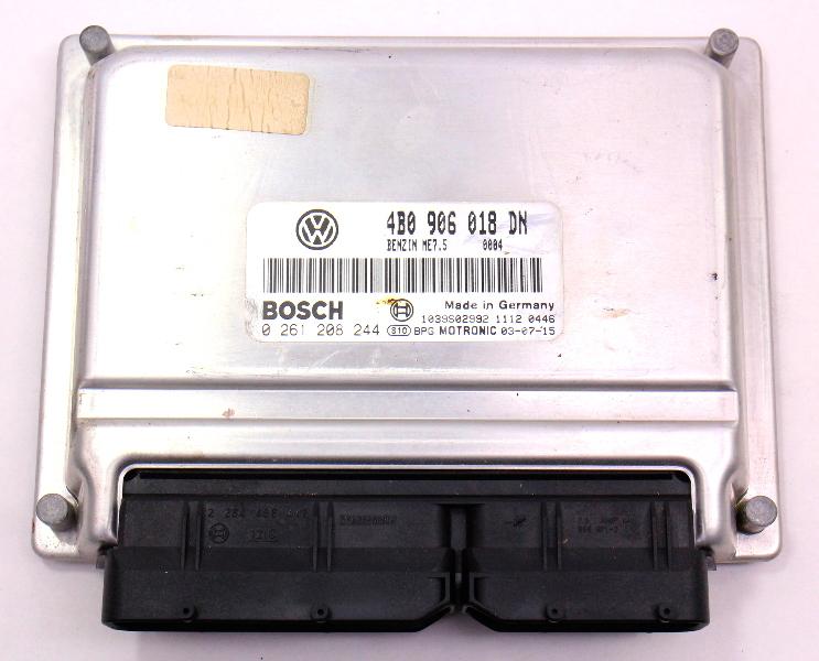 Engine Computer Module ECU ECM 2004 04 VW Passat 1.8T B5.5 - 4B0 906 018 DN
