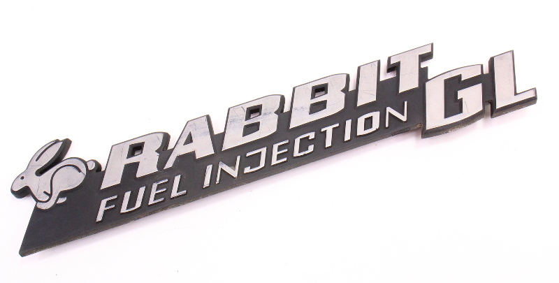 Rabbit GL Fuel Injection Hatch Emblem Badge VW Rabbit MK1 - 175 853 687 AA