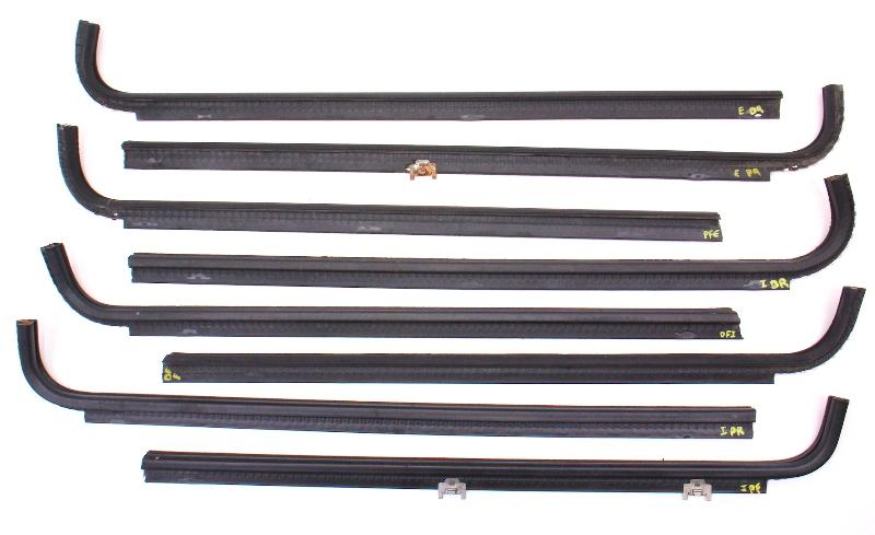 Lower Door Window Seal Rubber Weather Stripping 75-84 VW Rabbit MK1 - Genuine
