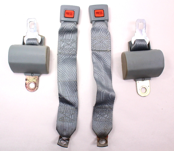 Rear Back Seat Belt Seatbelt Set 75-84 VW Rabbit MK1 - Genuine - 171 857 739