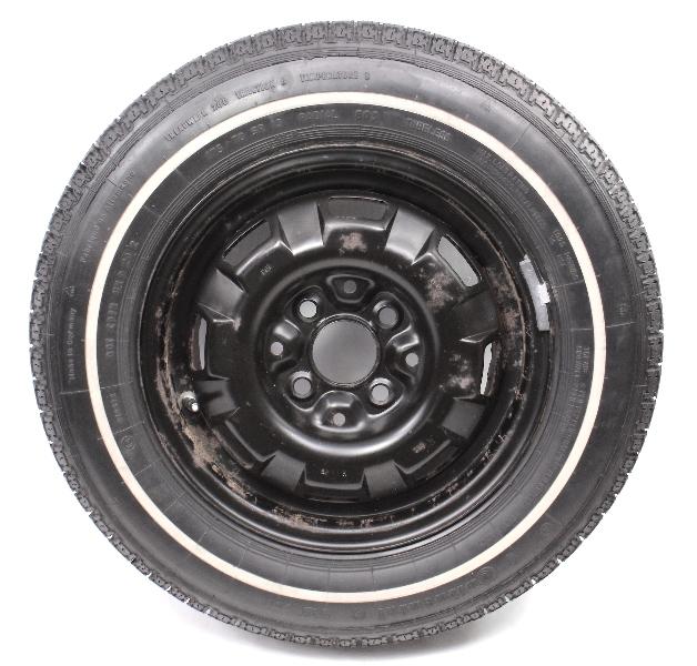 "13"" 4x100 Original Spare Wheel Rim / Tire VW Jetta Rabbit MK1 - Genuine"