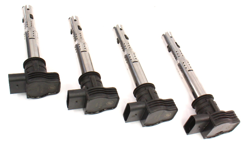 Set 4 Ignition Coils Fits VW Jetta GTI Mk5 Passat Audi A4 2.0T 2.5 07K 905 715 D