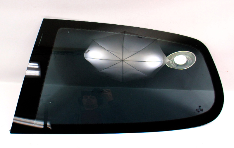 LH Rear Quarter Side Window Fixed Glass 06-09 VW Rabbit GTI Mk5 2 Door - Tinted