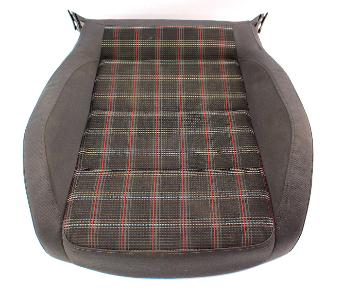 Front Sport Plaid Seat Cushion 05-10 VW Jetta GLI GTI MK5 - Genuine