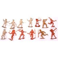 """13x 6"""" Louis Marx Cowboys & Indians Vintage Toys"""