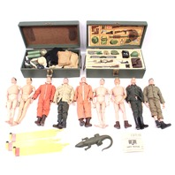 1964 Hasbro GI Joe Collection Figures Gears Footlocker A.S. Radio