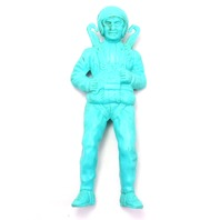 1963 Kay Plastic Blue Army Parachute Man Vintage Toy Action Figure