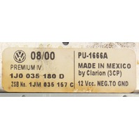 Premium IV Radio Head Unit VW Jetta Golf Cabrio Passat MK4 B5 - 1J0 035 180 D