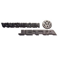 Trunk Emblem Rear Badge Logo 85-92 VW Jetta MK2 - Genuine - 165 853 687 F