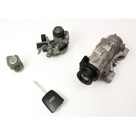 Ignition Door Trunk Lock Key Set 02-05 Audi A4 S4 B6 - Genuine - 4B0 905 851 F