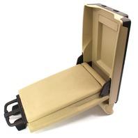 Rear Seat Arm Rest Console & Cup Holder 06-13 Audi A3 - Beige - Ski Pass Door