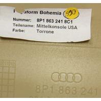 Center Console &  Cup holder 06-08 Audi A3 Beige - Genuine - 8P1 863 241