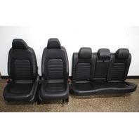 Red Stitched Leather Jetta GLI Sport Seats Interior 2013 VW Jetta MK6 - Genuine