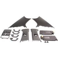 Black Upper Headliner Interior Trim Pillars 11-18 VW Jetta GLI MK6 - Genuine