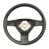 3 Three Spoke Steering Wheel 05-10 VW Jetta Rabbit MK5 - Black - 1K0 419 091 AG