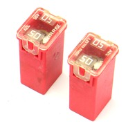 2x Red 50a LittleFuse 11-18 VW Jetta Sedan MK6 495 32v - Genuine