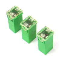 3x Green 40a LittleFuse 11-18 VW Jetta Sedan MK6 495 32v - Genuine