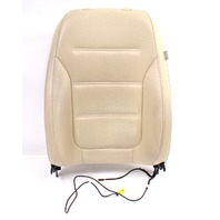 LH Front Seat Back Rest 15-18 VW Jetta MK6 Sedan - Beige Perforated Leatherette