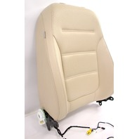 RH Front Seat Back Rest 15-18 VW Jetta MK6 Sedan - Beige Perforated Leatherette