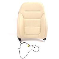 RH Front Seat Back Rest 15-18 VW Jetta MK6 Sedan - Beige Perforated Leatherette