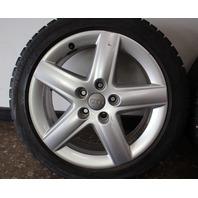 """Set Of Stock Wheels & Blizzak Snow Winter Tires  5x112 17"""" VW Audi A3 A4"""
