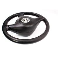 3 Spoke Black Leather Sport Steering Wheel 99-02 VW Cabrio MK3.5 Jetta Golf GTI