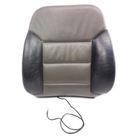 RH Front Seat Backrest Cover & Foam 01-05 Audi Allroad Black & Gray Leather