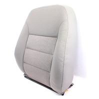 RH Front Seat Back Rest Cover & Foam 99-05 VW Jetta Golf MK4 - Grey Cloth