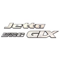 Trunk Emblem Badge 95-99 VW Jetta GLX VR6 MK3 - Genuine - 1HM 853 675 D