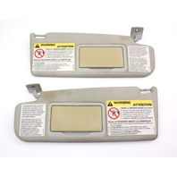 Sun Visor Set Pair 93-99 VW Jetta Golf GTI Mk3 Gray Sunvisor Vanity Mirror -