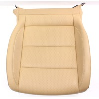 LH Front Seat Cushion & Cover 05-10 VW Jetta Mk5 Pure Beige Leatherette Genuine