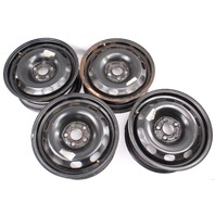 """15"""" x 6"""" Steel Wheel Rim Set 5x100 99-05 VW Jetta Golf GTI MK4 - 1J0 601 027 Q"""