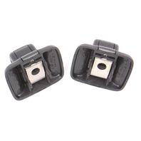 2x Black Sun Visor Clip Latch 05-18 VW Jetta Rabbit GTI MK5 MK6 - Genuine